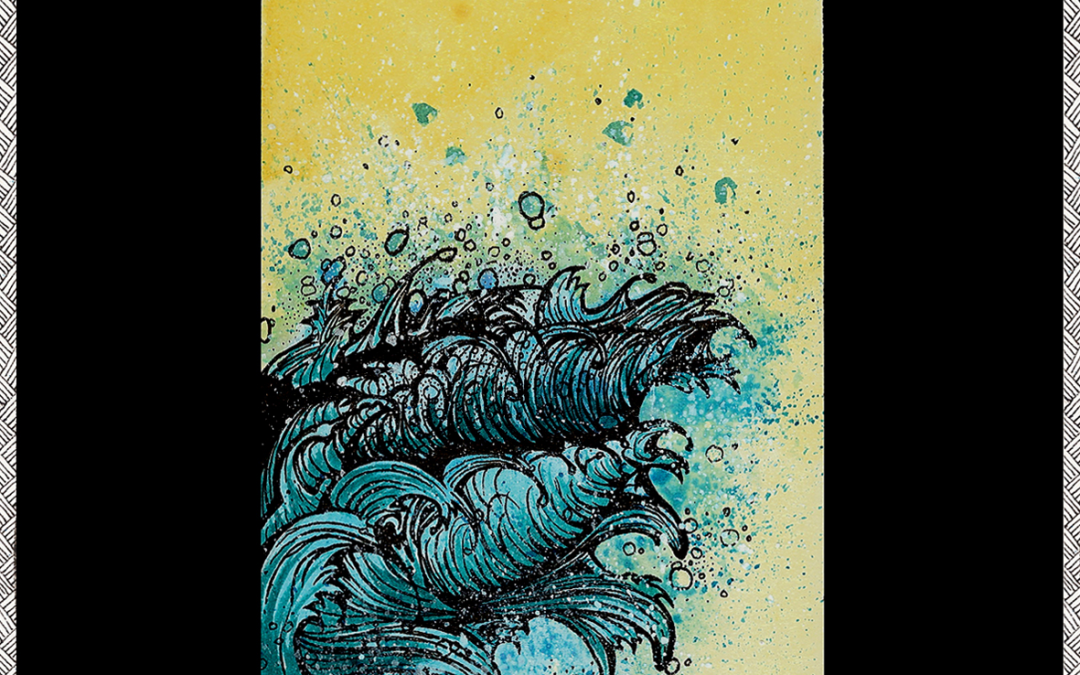 Encres | Chinoiseries | Wave inspiration Hokusaï
